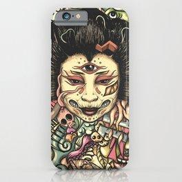 Geisha Doodle Flat iPhone Case