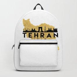 TEHRAN IRAN SILHOUETTE SKYLINE MAP ART Backpack