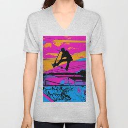 Lets Fly!  - Stunt Scooter Unisex V-Neck