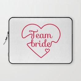 Team Bride - Bachelorette Hen Bridal Party Alcohol Laptop Sleeve