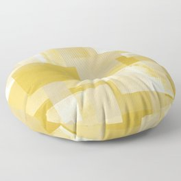 Modern Abstract No. 19 | Citron Floor Pillow