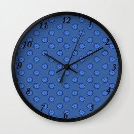 Eclosion bleutée Wall Clock