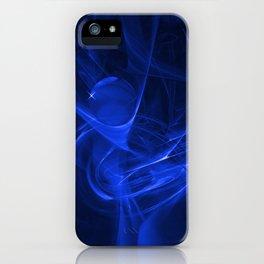 Blue swirl iPhone Case