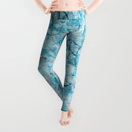 Watercolor Texture Turquoise And Drawing Circles Leggings