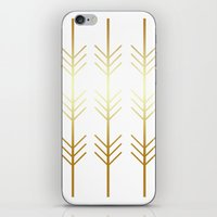 stay gold iPhone & iPod Skins featuring stay gold by Reckless Crush