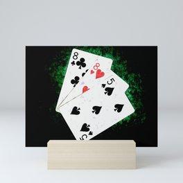 Blackjack Card Game, 21 Count, Eight Eight Five Combination Mini Art Print