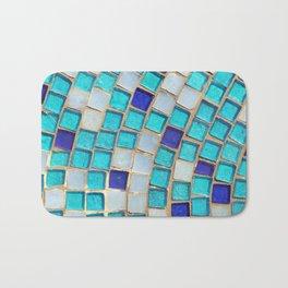 Blue Tiles - an abstract photograph. Bath Mat