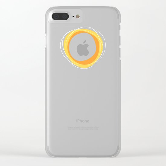 Solar Eclipse MCM Green Clear iPhone Case