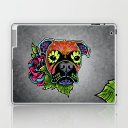 Boxer in Fawn - Day of the Dead Sugar Skull Dog Laptop & iPad Skin