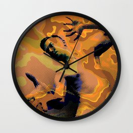 Pop Art Nude Male Dramatic Pose Wall Clock