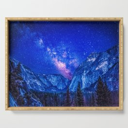 Milky Way Over Mountain Serving Tray