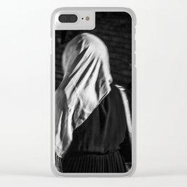 Muslim woman is walking Clear iPhone Case