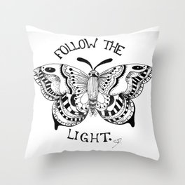 Like Moths to Flames Throw Pillow