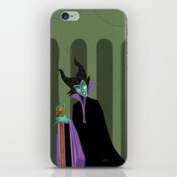 maleficent iPhone & iPod Skins featuring Maleficent by DROIDMONKEY