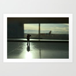 Alone in the airport. Art Print