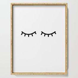 Eyelashes, Kids, Room, Nursery, Art, Scandinavian, Wall art Print Serving Tray