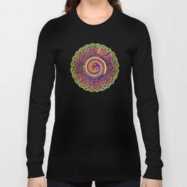 Spirals Celtic Knot Mandala Long Sleeve T-shirt