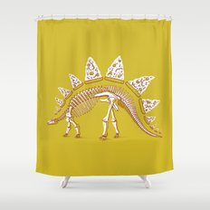Pizzasaurus Awesome! Shower Curtain