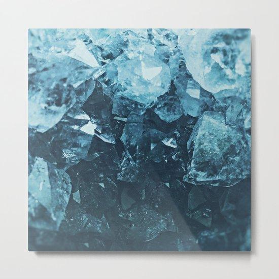 Aquamarine Gem Dreams Metal Print