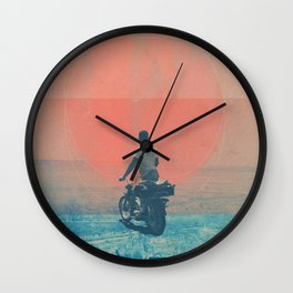 Looking right into the Eye of the Summer Wall Clock