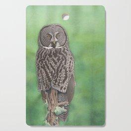 Great Gray Owl Cutting Board