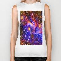 nebula Biker Tanks featuring Nebula by Saundra Myles