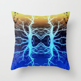 Forests Spirits in Technicolour Throw Pillow