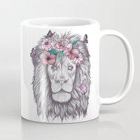lion king Mugs featuring Lion King by Sorasoraya