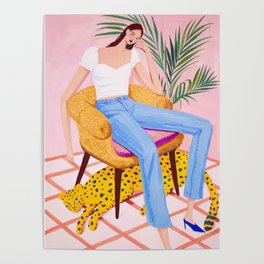 Bohemian Pink Room Poster