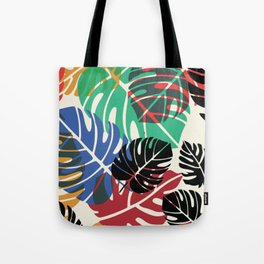 Chew chew's summer palm leaves Tote Bag