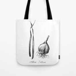 Garlic Botanical Ilustration Tote Bag
