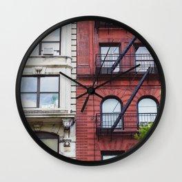 NYC Fire Escapes II Wall Clock