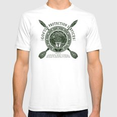 Goa'uld Protection Services White SMALL Mens Fitted Tee