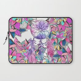Colorful magenta teal watercolor dream catcher floral Laptop Sleeve