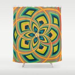 Spiral Rose Pattern C 4/4 Shower Curtain