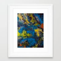 cosmic Framed Art Prints featuring Cosmic by yellowbunnies