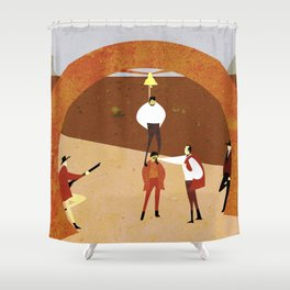 Harmonica Shower Curtain