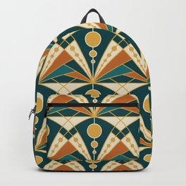 Art Deco (Green, rusty and gold) Backpack