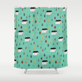 Countryside Pattern Shower Curtain