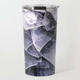 Cracked Ice Tiles In Lake Shore #decor #buyart #society6 Travel Mug