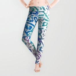 Heart Flower Blue Leggings
