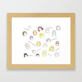 All the Women Framed Art Print