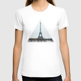 Eiffel Tower Art - Geometric Photography T-shirt