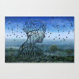 Breath into the Sky Canvas Print
