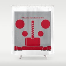 No232 My THOR minimal movie poster Shower Curtain