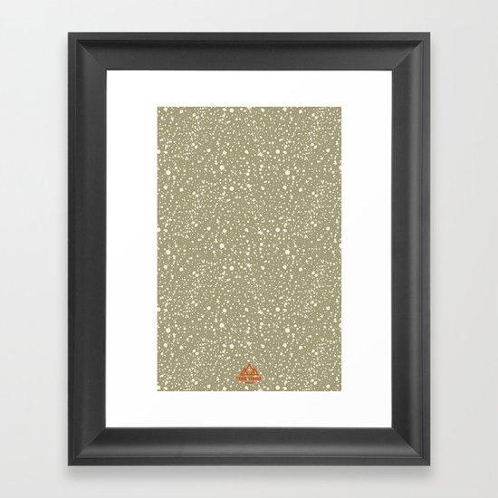Trail Status / Beige Framed Art Print