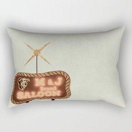 Retro Saloon Sign Rectangular Pillow