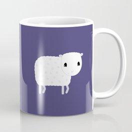 Smilng Sheep - Dark Blue Coffee Mug