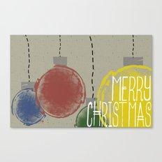 Merry Christmas Ornaments Canvas Print