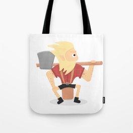 Lumberjack illustration. Tote Bag